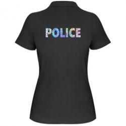 Женская футболка поло Police голограмма
