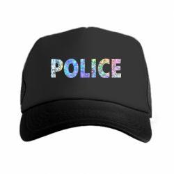 Кепка-тракер Police голограмма