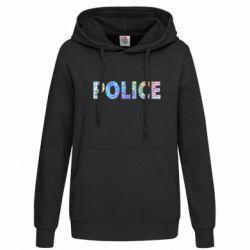 Женская толстовка Police голограмма