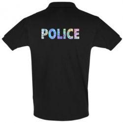 Футболка Поло Police голограмма