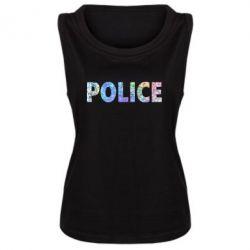 Женская майка Police голограмма