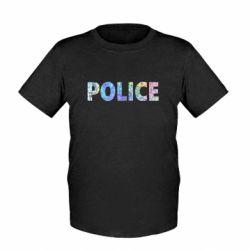 Детская футболка Police голограмма