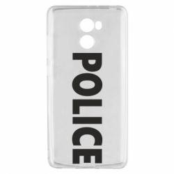 Чехол для Xiaomi Redmi 4 POLICE - FatLine