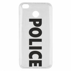 Чехол для Xiaomi Redmi 4x POLICE - FatLine