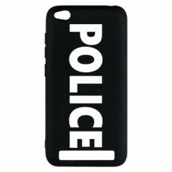 Чехол для Xiaomi Redmi 5a POLICE - FatLine