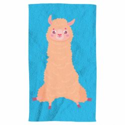 Рушник Cute llama with a smile