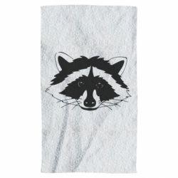 Рушник Cute raccoon face