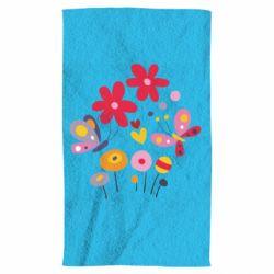 Полотенце Flowers and Butterflies