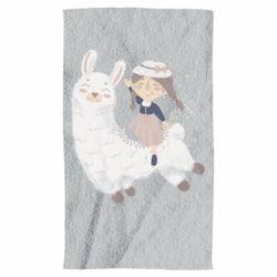 Рушник Girl with a lama