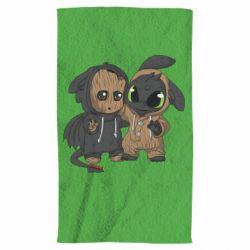 Полотенце Groot And Toothless