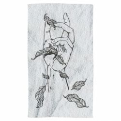 Рушник Hand with leafs