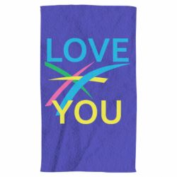 Рушник Love You Abstract Lines