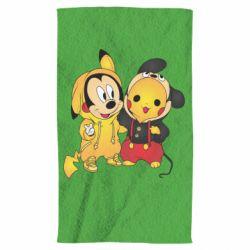 Полотенце Mickey and Pikachu