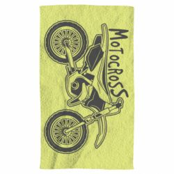 Рушник Motocross text and motorcycle