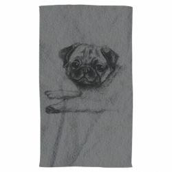 Рушник Pug drawing