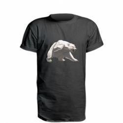 Купить Медведь, Удлиненная футболка Полярный медведь, FatLine