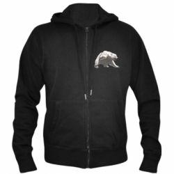 Чоловіча толстовка на блискавці Полярний ведмідь