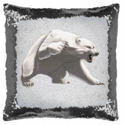 Подушка-хамелеон Полярний ведмідь