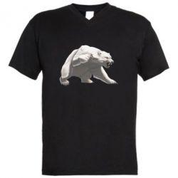 Чоловіча футболка з V-подібним вирізом Полярний ведмідь