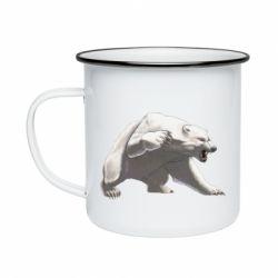 Кружка емальована Полярний ведмідь