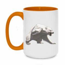 Кружка двоколірна 420ml Полярний ведмідь