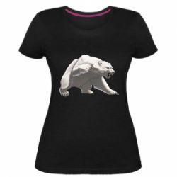 Жіноча стрейчева футболка Полярний ведмідь