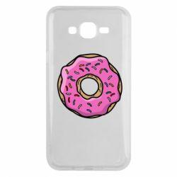 Чехол для Samsung J7 2015 Пончик Гомера