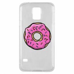 Чехол для Samsung S5 Пончик Гомера