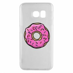 Чехол для Samsung S6 EDGE Пончик Гомера