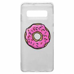 Чехол для Samsung S10+ Пончик Гомера