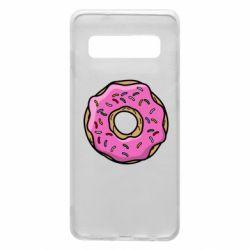Чехол для Samsung S10 Пончик Гомера