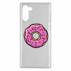 Чехол для Samsung Note 10 Пончик Гомера