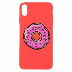 Чехол для iPhone X/Xs Пончик Гомера