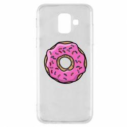 Чехол для Samsung A6 2018 Пончик Гомера