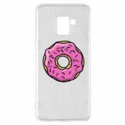 Чехол для Samsung A8+ 2018 Пончик Гомера