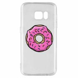 Чехол для Samsung S7 Пончик Гомера