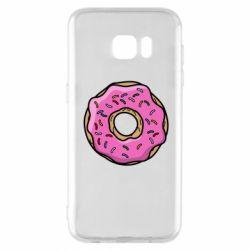 Чехол для Samsung S7 EDGE Пончик Гомера
