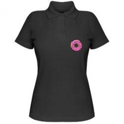 Женская футболка поло Пончик Гомера - FatLine