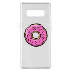 Чехол для Samsung Note 8 Пончик Гомера