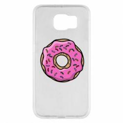 Чехол для Samsung S6 Пончик Гомера