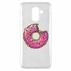 Купить Парные для влюбленных, Чехол для Samsung A6+ 2018 Пончик, FatLine