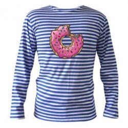 Тельняшка с длинным рукавом Пончик - FatLine