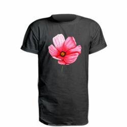 Удлиненная футболка Poppy flower