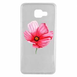 Чехол для Samsung A7 2016 Poppy flower