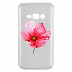 Чехол для Samsung J1 2016 Poppy flower