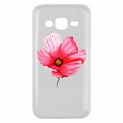 Чехол для Samsung J2 2015 Poppy flower
