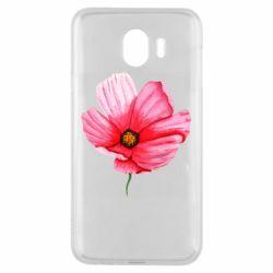 Чехол для Samsung J4 Poppy flower