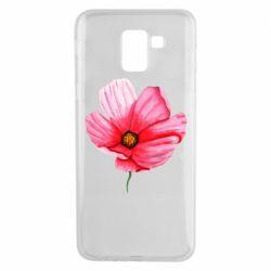 Чехол для Samsung J6 Poppy flower
