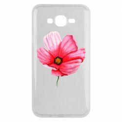 Чехол для Samsung J7 2015 Poppy flower