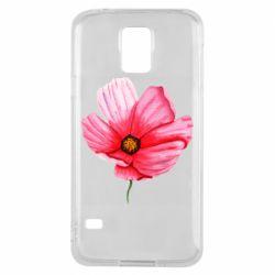 Чехол для Samsung S5 Poppy flower